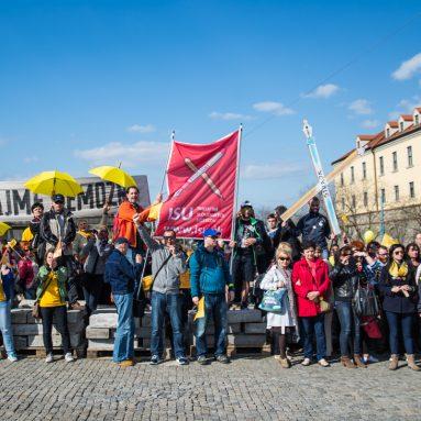 Učitelia protestovali v Bratislave