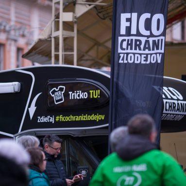 Roadshow Fico chráni zlodejov